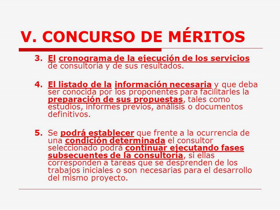V.CONCURSO DE MÉRITOS 2.1.2.2. Pliego de Condiciones.