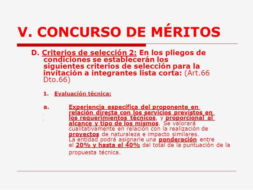 V.CONCURSO DE MÉRITOS 3.