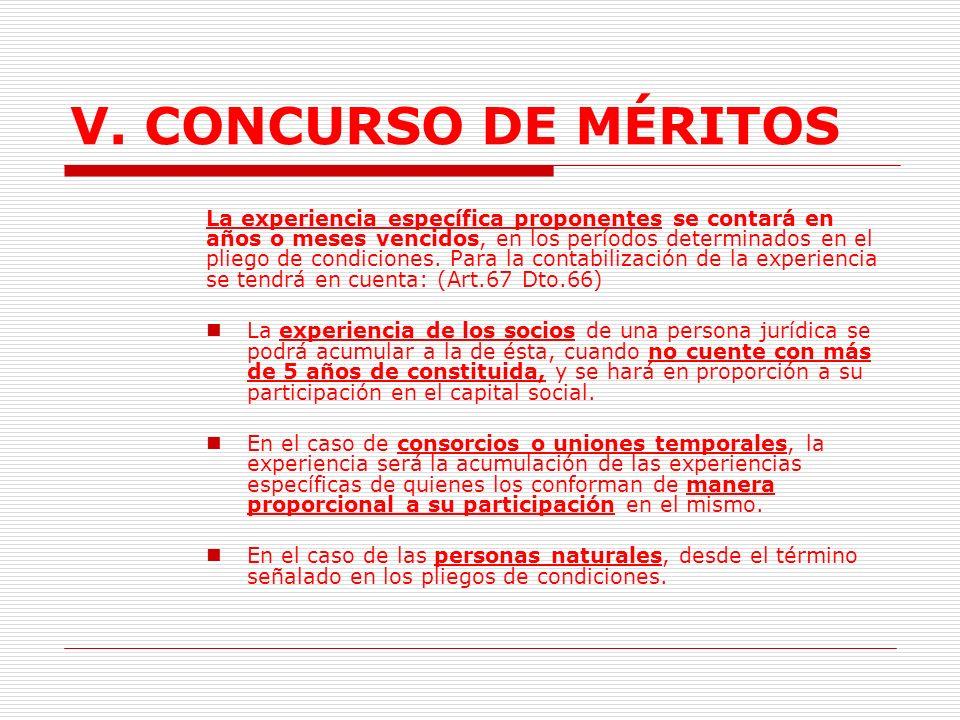 V.CONCURSO DE MÉRITOS D.