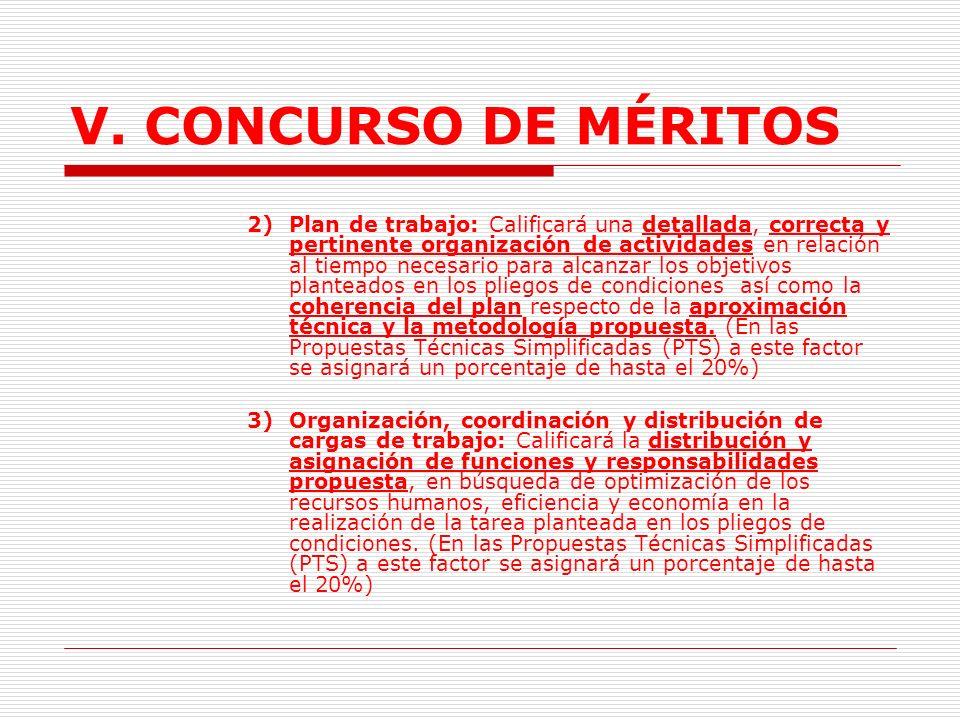 V.CONCURSO DE MÉRITOS b.