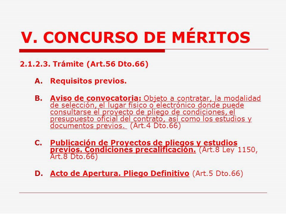 V.CONCURSO DE MÉRITOS d.Participación del proveedor nacional.