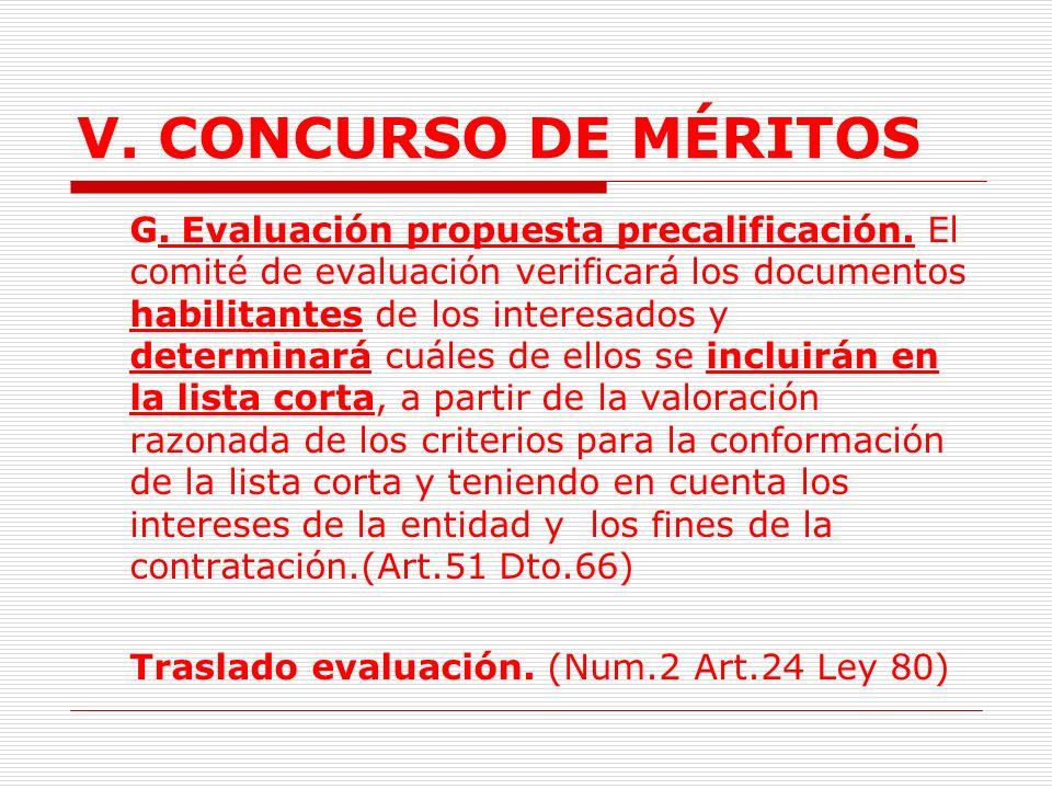 V.CONCURSO DE MÉRITOS F.Manifestación de interés.