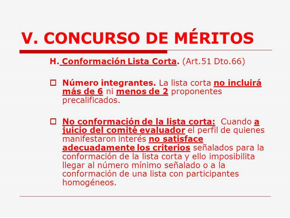 V.CONCURSO DE MÉRITOS G.Evaluación propuesta precalificación.