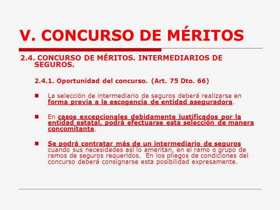 V.CONCURSO DE MÉRITOS 2.3. Concurso de Arquitectura.