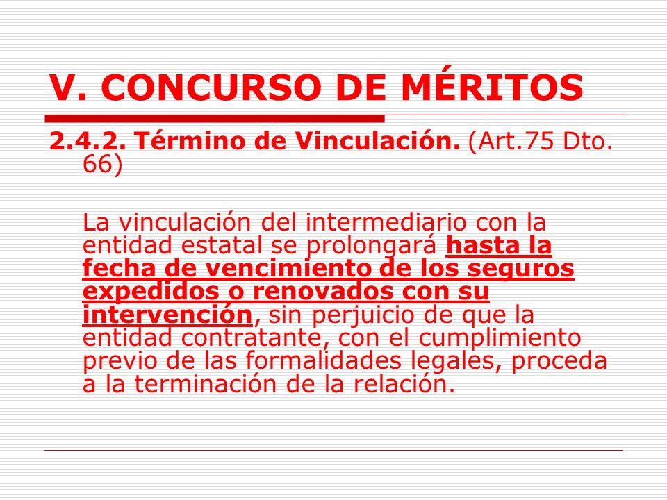 V.CONCURSO DE MÉRITOS 2.4. CONCURSO DE MÉRITOS. INTERMEDIARIOS DE SEGUROS.