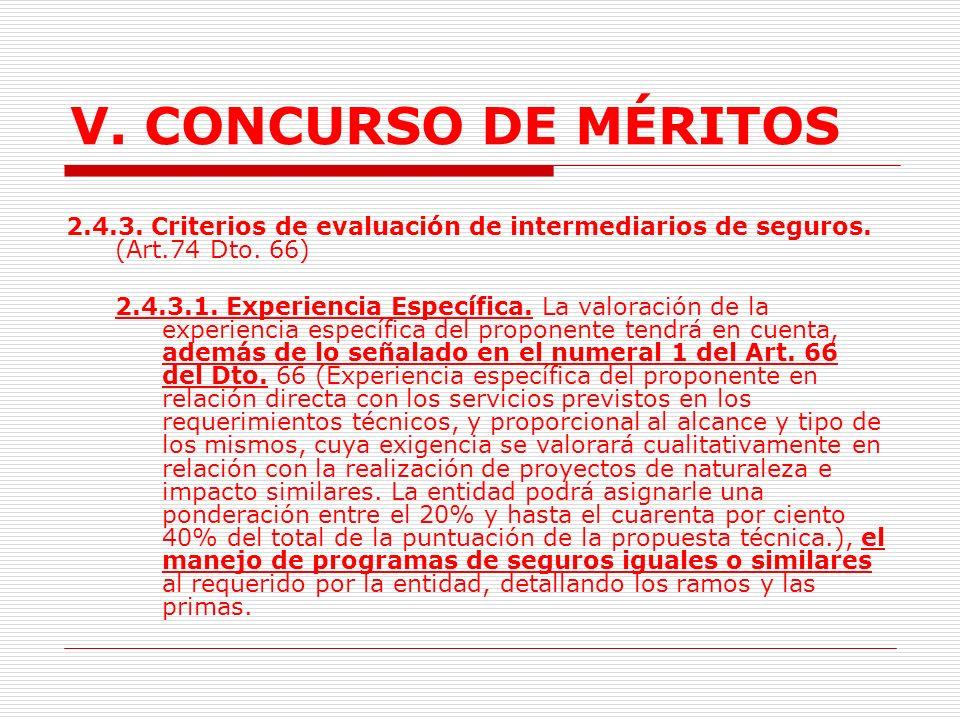 V.CONCURSO DE MÉRITOS 2.4.2. Término de Vinculación.