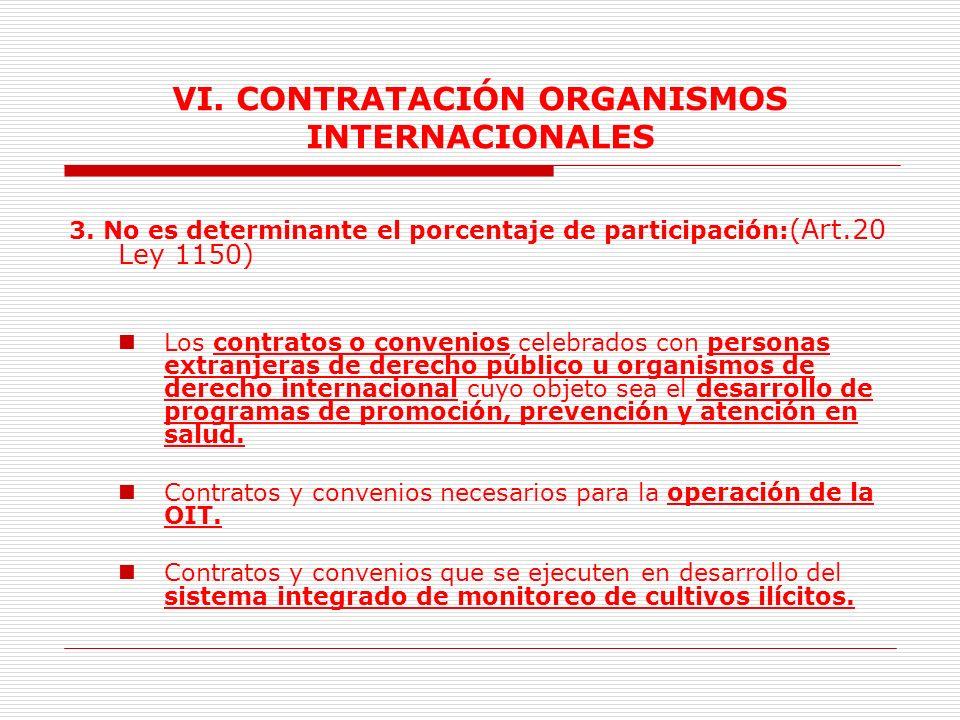 VI.CONTRATACIÓN ORGANISMOS INTERNACIONALES 2. Prohibición.