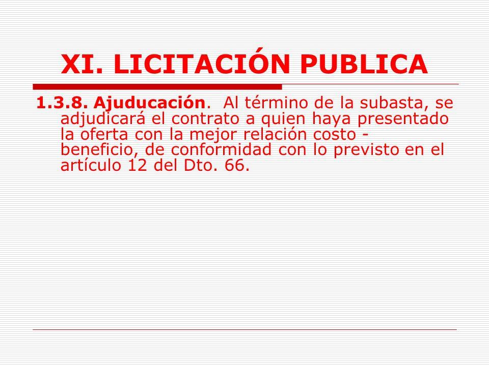 XI.LICITACIÓN PUBLICA 1.3.5.