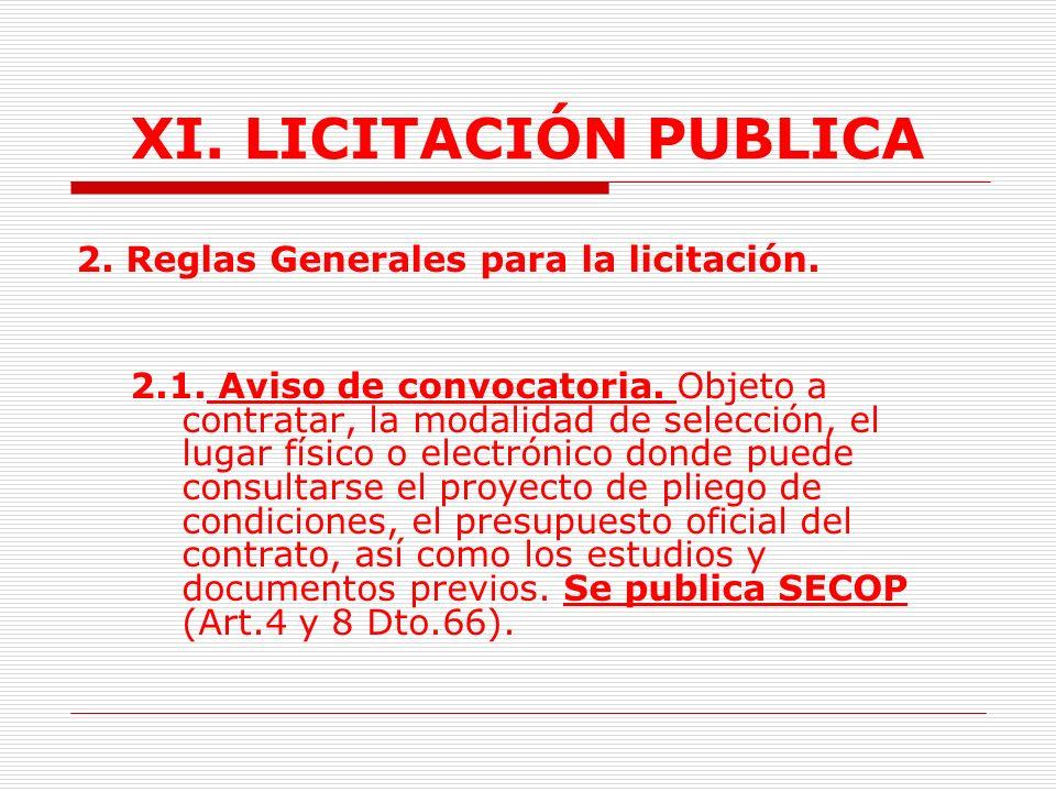 XI.LICITACIÓN PUBLICA 1.3.8. Ajuducación.