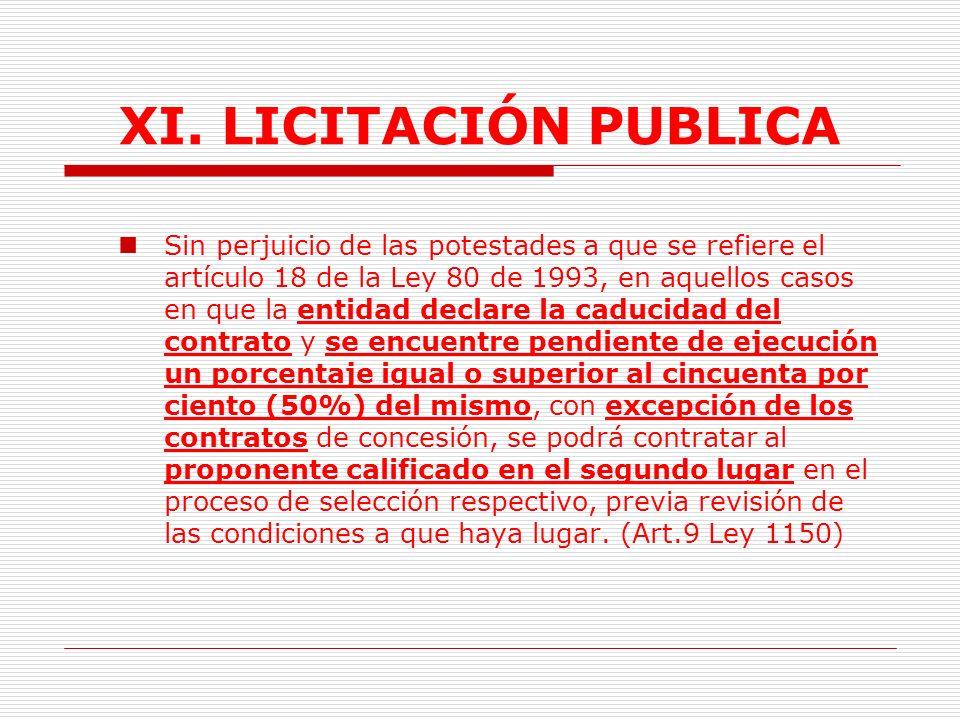 XI.LICITACIÓN PUBLICA 2.3 Acto de adjudicación.