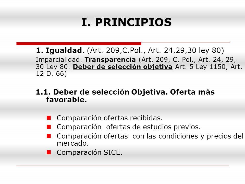 I.PRINCIPIOS 1.2. Transparencia. Selección Objetiva.