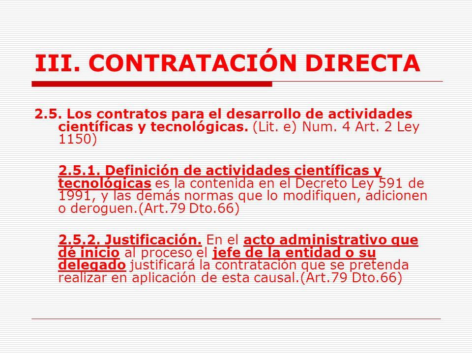 III.CONTRATACIÓN DIRECTA 2.4.2. Trámite.