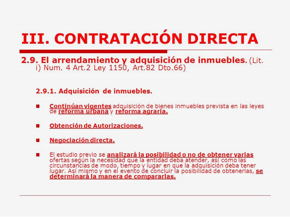 III.CONTRATACIÓN DIRECTA 2.8.2 Servicios de Apoyo a la Gestión.