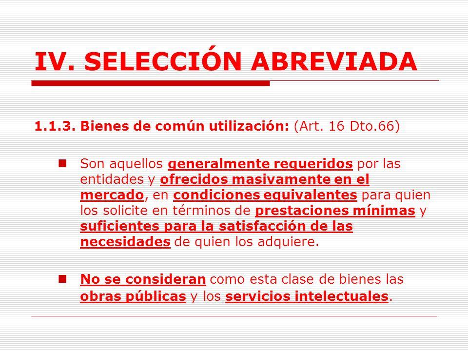 IV.SELECCIÓN ABREVIADA 1.1.2. Diseño y características descriptivas.