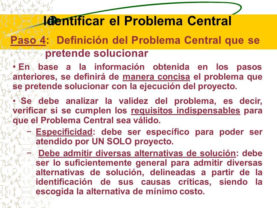 RECOMENDACIONES: Al estimar el volumen de la población afectada, se contribuye a demostrar la importancia del Problema Central, ya que se estima qué cantidad de la población presenta una necesidad no atendida.