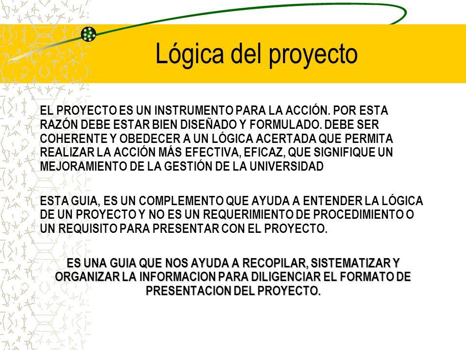EL MARCO LOGICO EN EL DISEÑO DE PROYECTOS Complemento Conceptual.