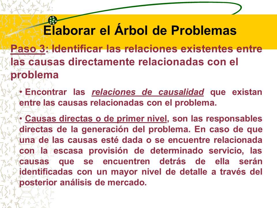 RECOMENDACIONES: Focalizar el análisis de causas sólo en el Problema Central.