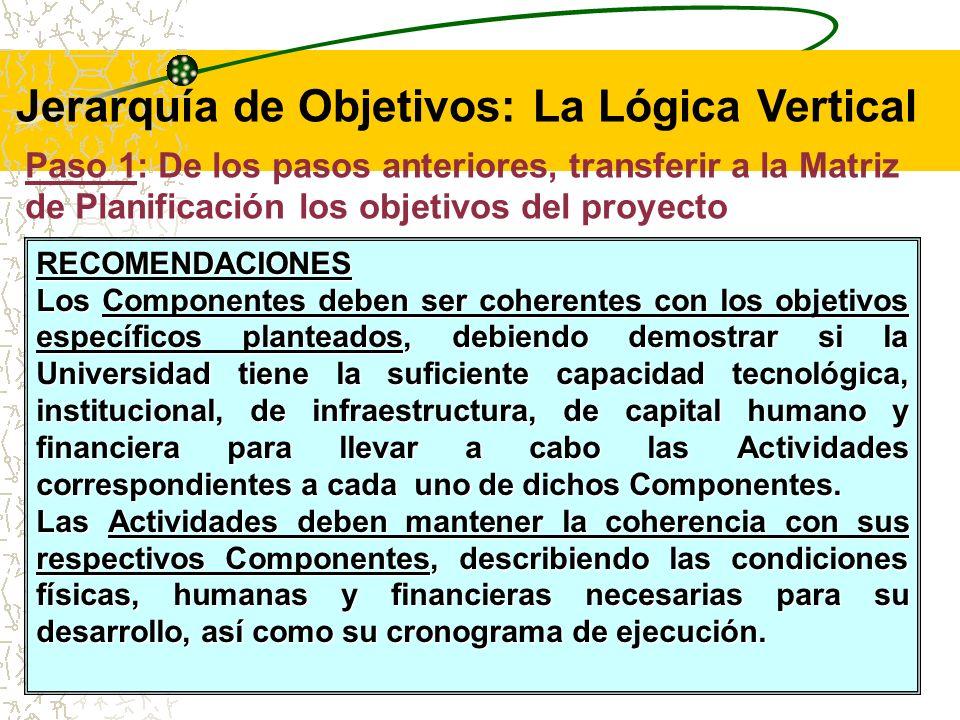 RECOMENDACIONES: Tener en cuenta que el Objetivo General debe ser consistente con la misión y visión de la Institución, y con los Lineamientos Generales del Plan de Desarrollo.
