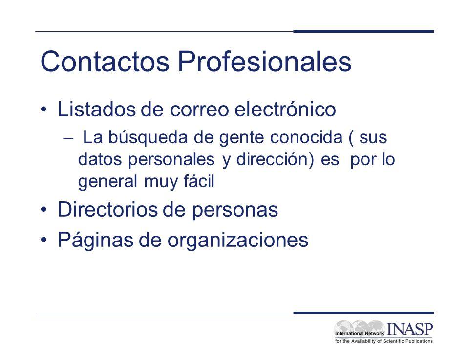Contactos Profesionales Listados de correo electrónico – La búsqueda de gente conocida ( sus datos personales y dirección) es por lo general muy fácil