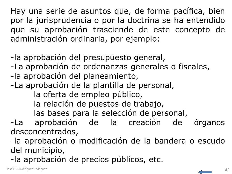 José Luis Rodríguez Rodríguez 43 Hay una serie de asuntos que, de forma pacífica, bien por la jurisprudencia o por la doctrina se ha entendido que su