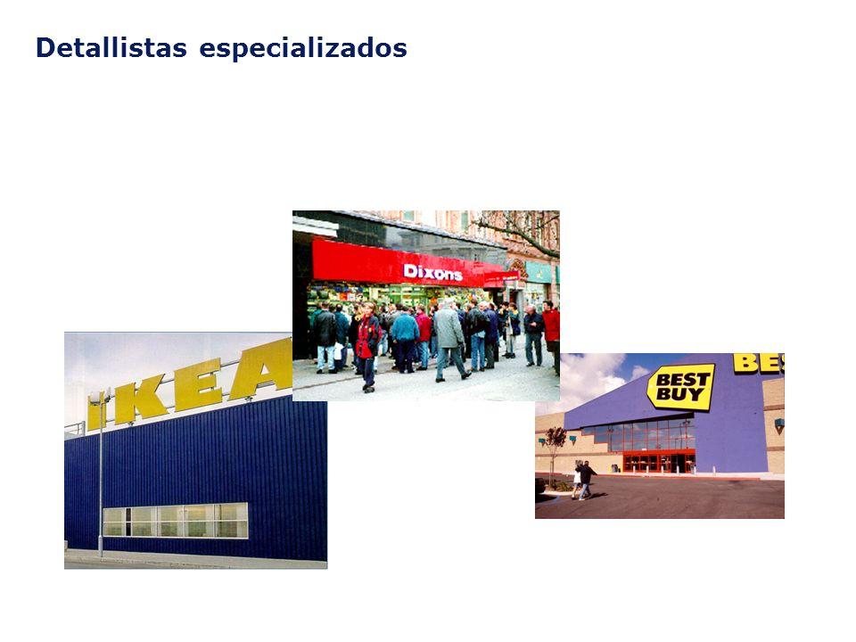 ©2003 Firm Name/Legal Entity Presentation Name (View / Header and Footer) 26 Detallistas especializados