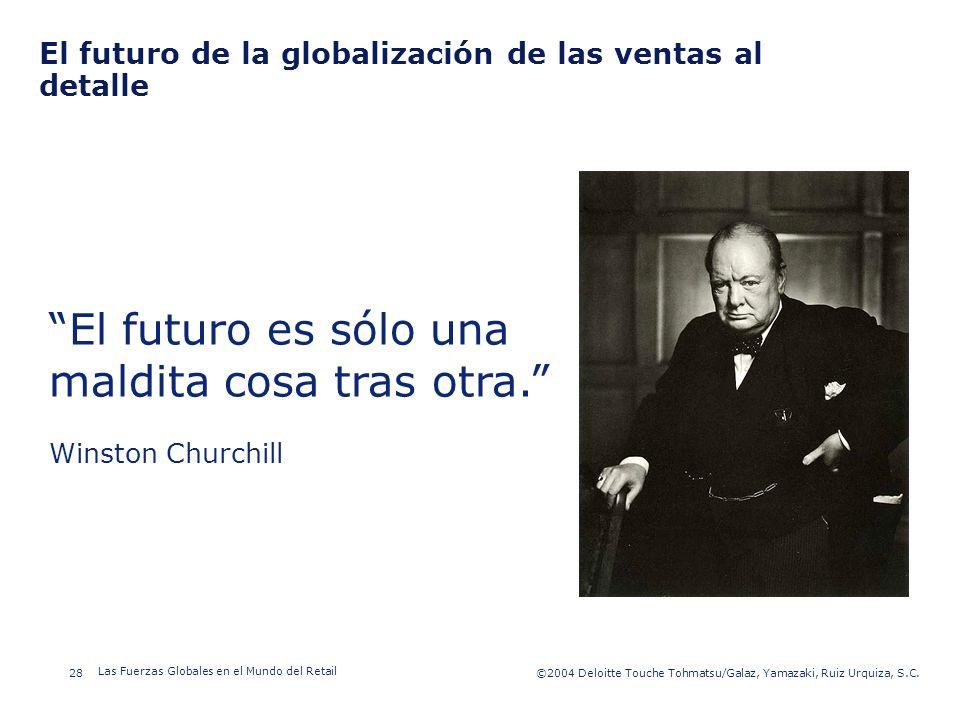 ©2003 Firm Name/Legal Entity 28©2004 Deloitte Touche Tohmatsu/Galaz, Yamazaki, Ruiz Urquiza, S.C. Las Fuerzas Globales en el Mundo del Retail Presenta