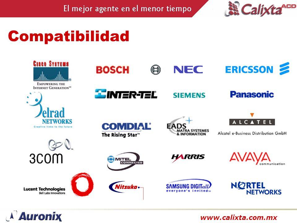 www.calixta.com.mx Compatibilidad