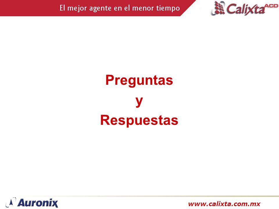 www.calixta.com.mx Preguntas y Respuestas