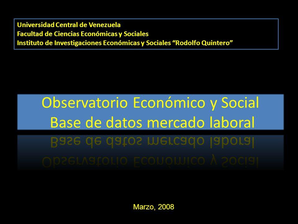 Universidad Central de Venezuela Facultad de Ciencias Económicas y Sociales Instituto de Investigaciones Económicas y Sociales Rodolfo Quintero Marzo,