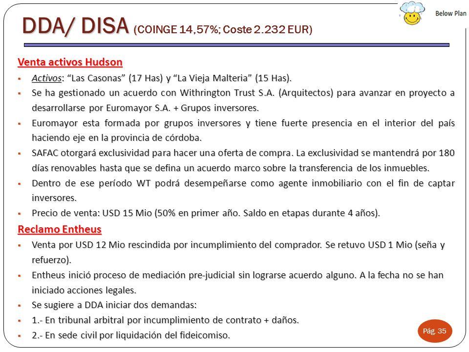 Pág. 35 Venta activos Hudson Activos: Las Casonas (17 Has) y La Vieja Malteria (15 Has). Activos: Las Casonas (17 Has) y La Vieja Malteria (15 Has). S