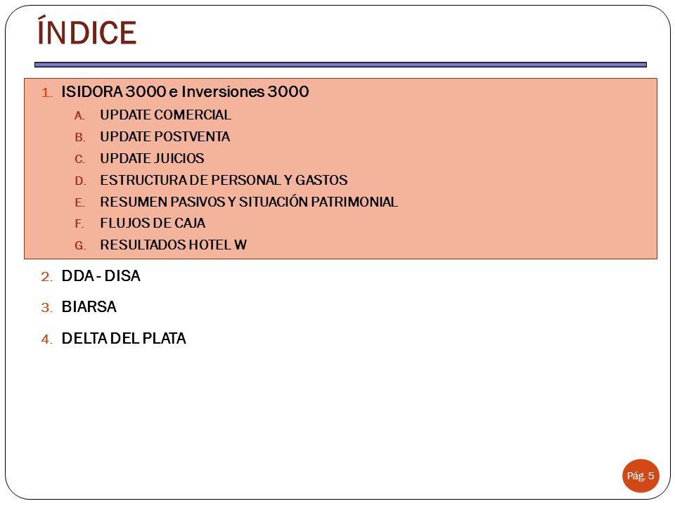 Plan de reestructuración de personal Anterior Gerente (Emiliano Concha) fue desvinculado el 31 Dic 2012.