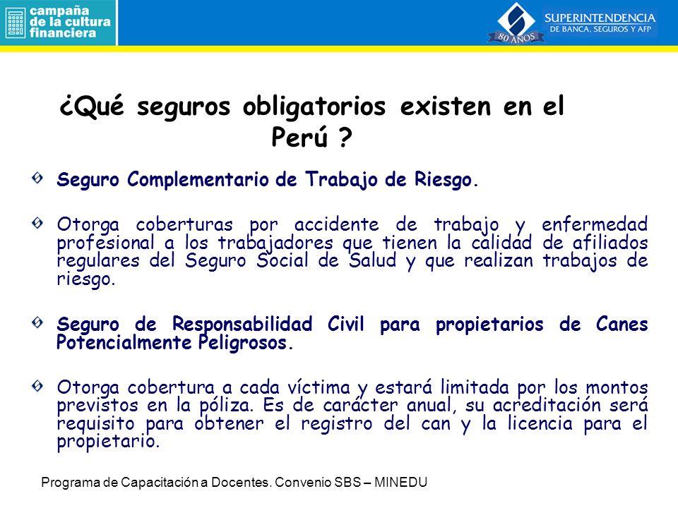 ¿Qué seguros obligatorios existen en el Perú .