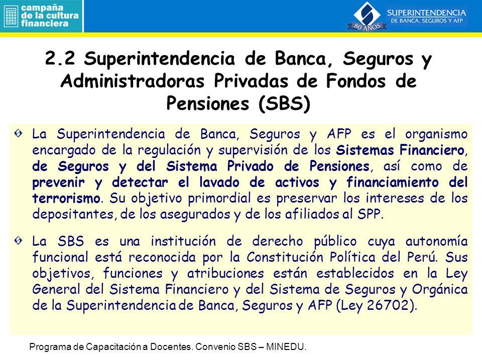 La familia de billetes y el cono monetario del Nuevo Sol Programa de Capacitación a Docentes.