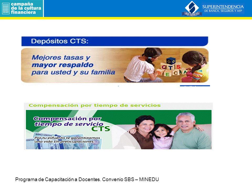 Productos Bancarios y Financieros 3.1.3 Depósitos CTS.
