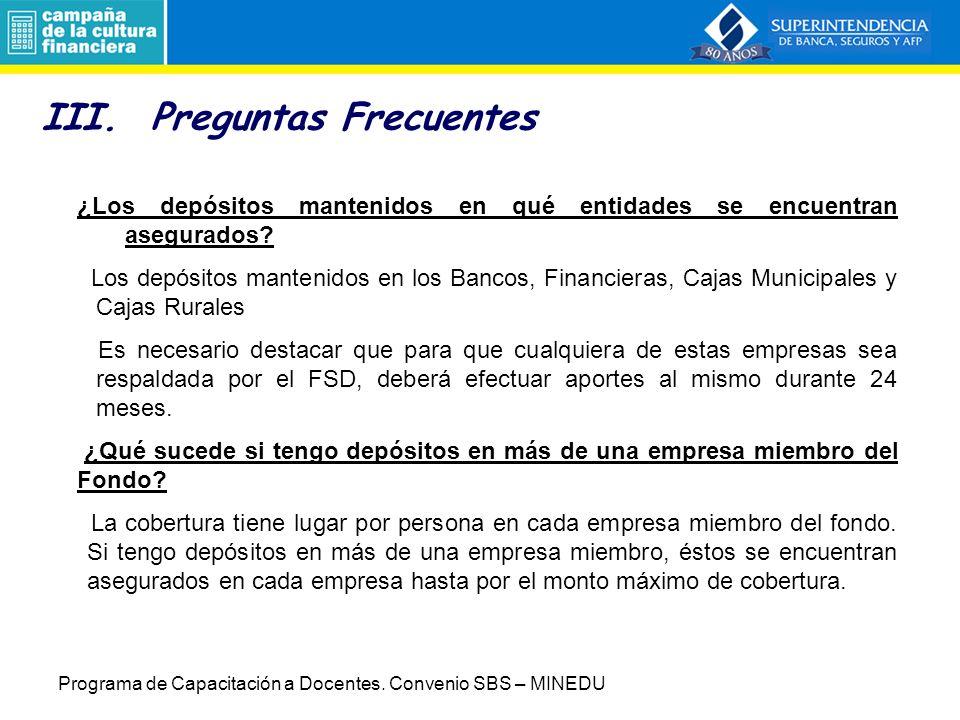 II.Fondo de Seguro de Depósitos (FSD) Misión.