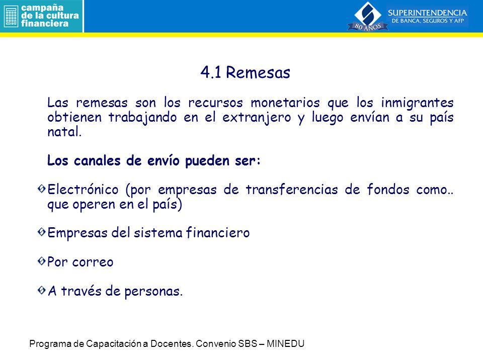 4.Servicios 4. Servicios (Sesión 6 y 7) 4.1Remesas 4.2 Giros 4.3Otros servicios.