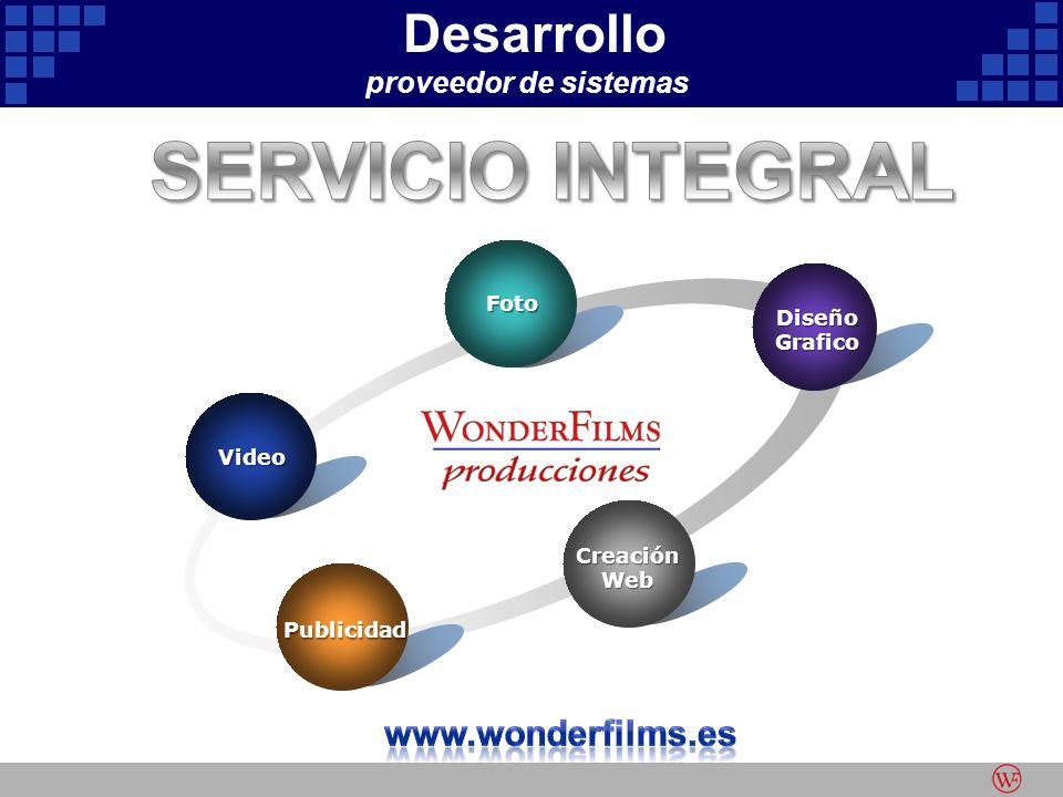 Desarrollo proveedor de sistemas Video Foto DiseñoGrafico CreaciónWeb Publicidad