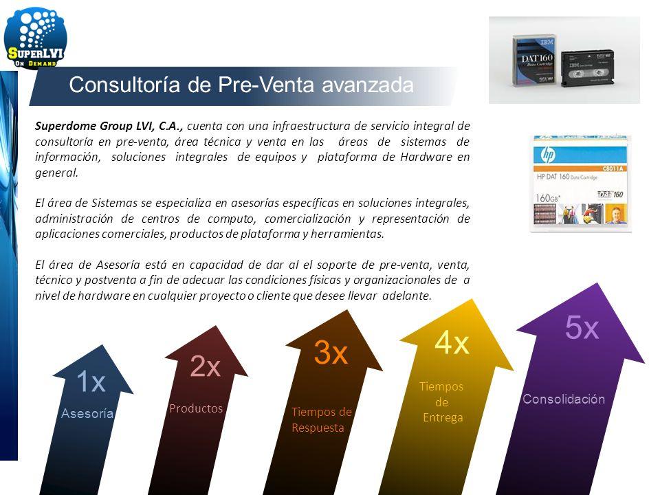Superdome Group LVI, C.A., cuenta con una infraestructura de servicio integral de consultoría en pre-venta, área técnica y venta en las áreas de siste