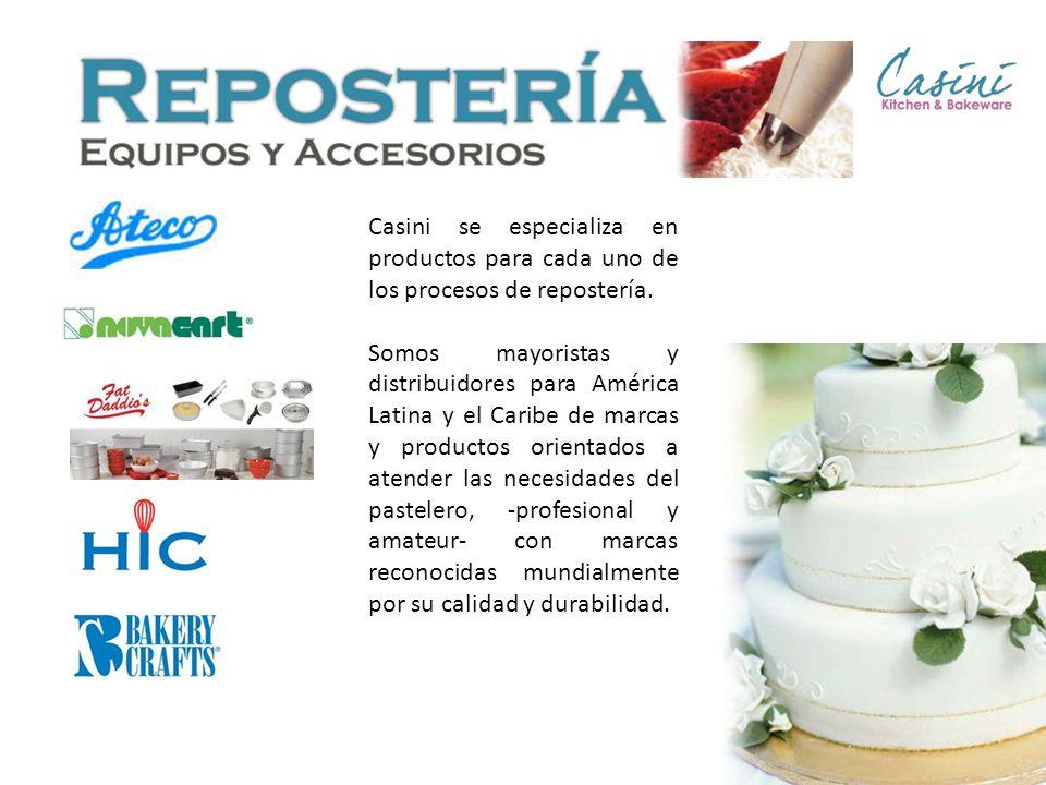 Casini se especializa en productos para cada uno de los procesos de repostería. Somos mayoristas y distribuidores para América Latina y el Caribe de m