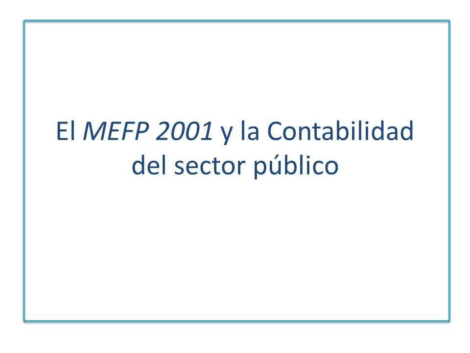 El MEFP 2001 y la Contabilidad del sector público