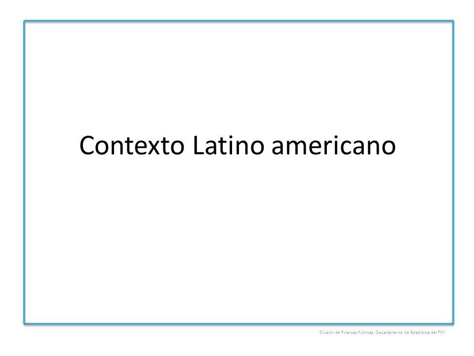 Contexto Latino americano División de Finanzas Públicas, Departamento de Estadística del FMI