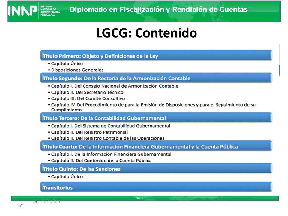 Diplomado en Fiscalización y Rendición de Cuentas Proceso de armonización Contable 9 Ejecutores del Gasto Contabilidad Gubernamental Planeación Ingres