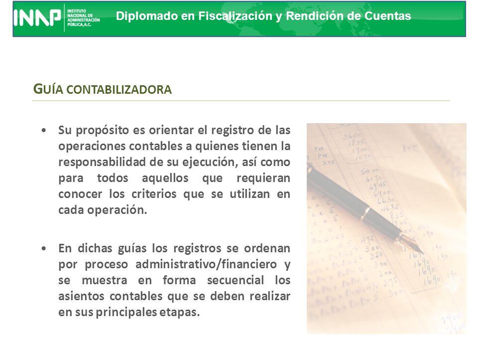 Diplomado en Fiscalización y Rendición de Cuentas I NSTRUCTIVO DE CUENTAS Pie
