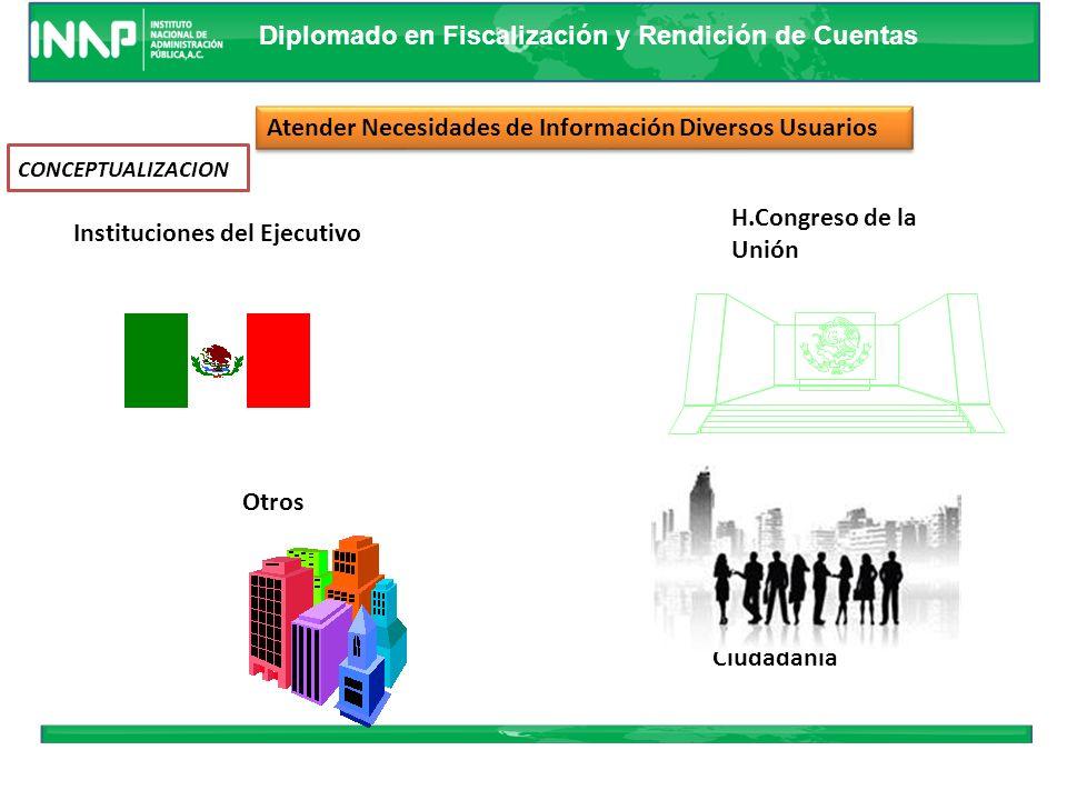 Diplomado en Fiscalización y Rendición de Cuentas Principales Usuarios Cámara de Diputados Cámara de Diputados Entidad de Fiscalización Superior Entid