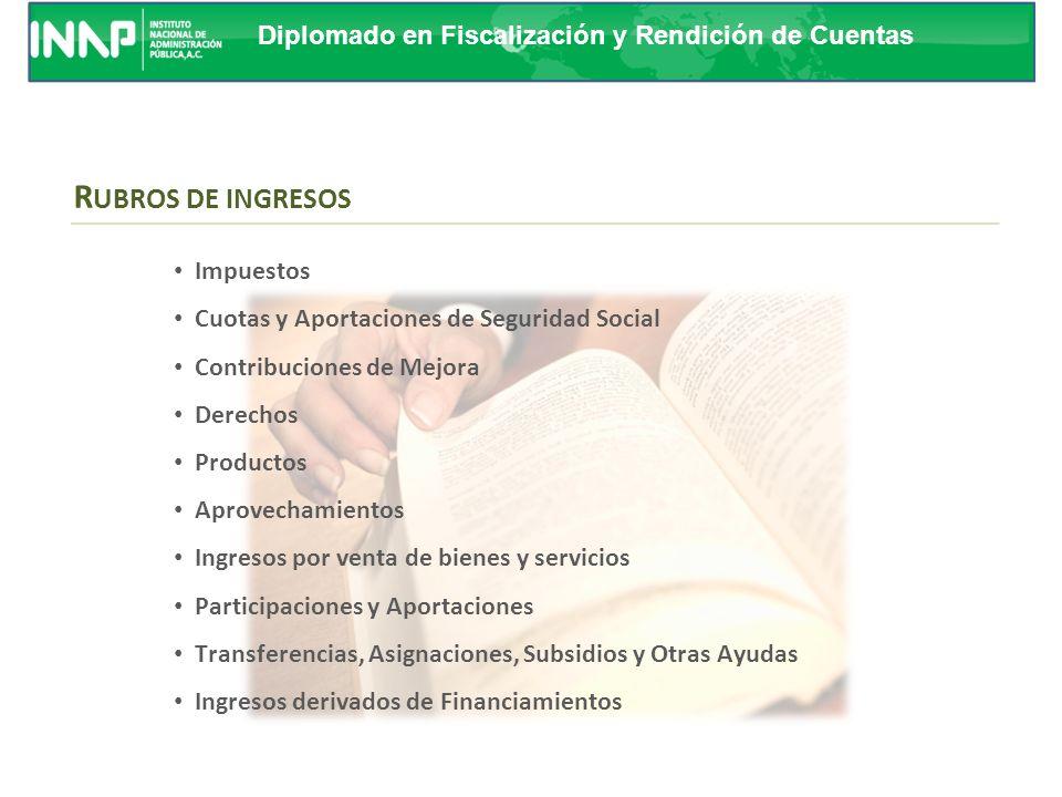 Diplomado en Fiscalización y Rendición de Cuentas ESTRUCTURA DE CODIFICACIÓN El CRI: Permitirá el registro analítico de las transacciones de ingresos,