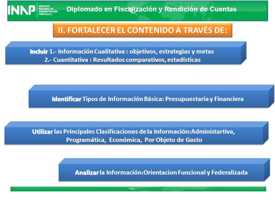 Diplomado en Fiscalización y Rendición de Cuentas I. RECOMENDACIONES GENERALES Cumplir con la Oficialidad Mostrar evolución del Ejercicio Abarcar la C