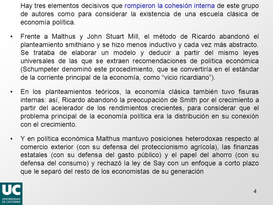 Thomas R. Malthus HISTORIA DEL PENSAMIENTO ECONÓMICO