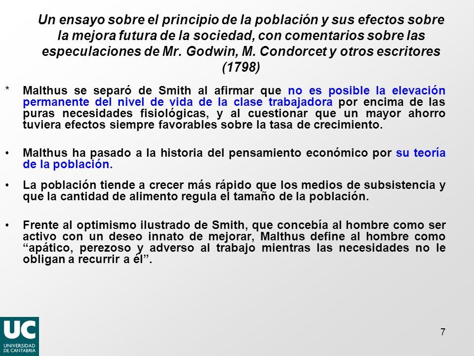 7 Un ensayo sobre el principio de la población y sus efectos sobre la mejora futura de la sociedad, con comentarios sobre las especulaciones de Mr.