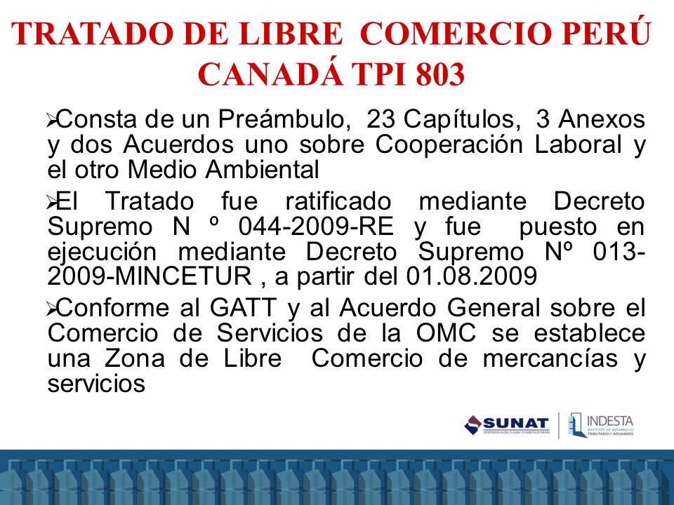 Mediante DS N º 089-2011-RE se ratifico el Acuerdo de Integración Comercial y fue puesto en ejecución mediante DS N º 014-2009- MINCETUR (01.08.09) Consta de un Preámbulo, 19 Capítulos, 11 Anexos, 5 Cartas adjuntas ACUERDO DE INTEGRACIÓN COMERCIAL PERÚ MÉXICO AAP.CE N º 67