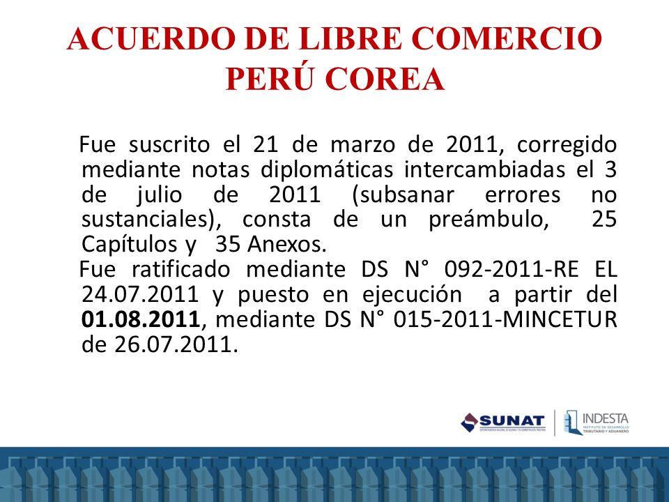 Fue suscrito el 21 de marzo de 2011, corregido mediante notas diplomáticas intercambiadas el 3 de julio de 2011 (subsanar errores no sustanciales), co